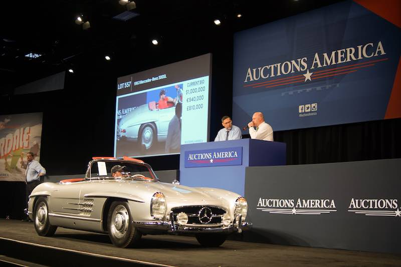 Marvelous The Sale Topping 1963 Mercedes Benz 300SL Roadster Crosses The Fort  Lauderdale Auction Block