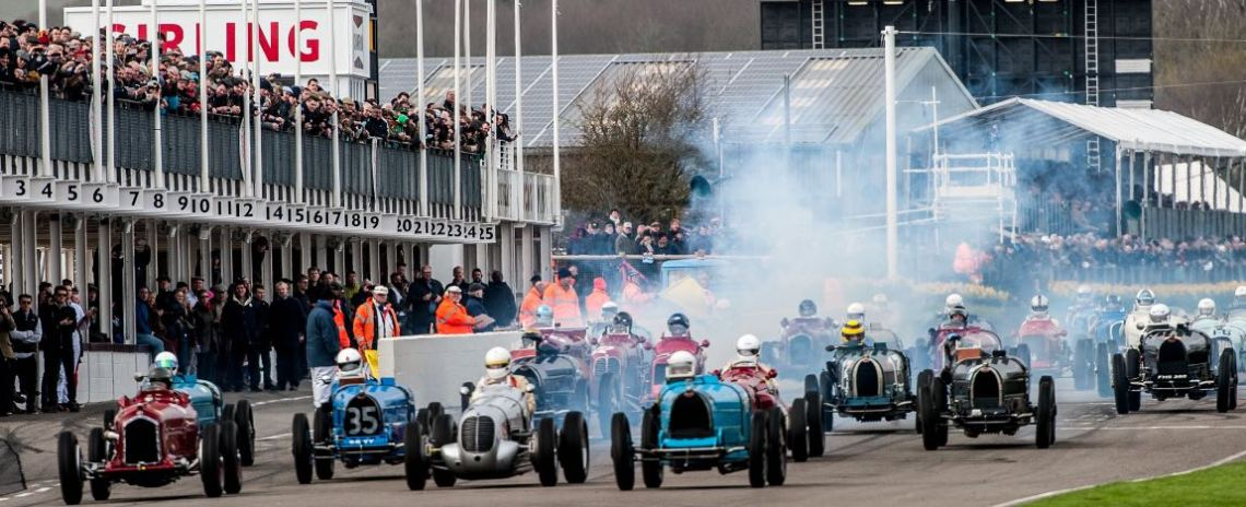 Start of the Varzi Trophy at the Goodwood Members Meeting 2017