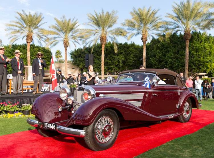 Best of Show - 1937 Mercedes-Benz 540 K Sport Cabriolet A (photo: Michael Tobian)