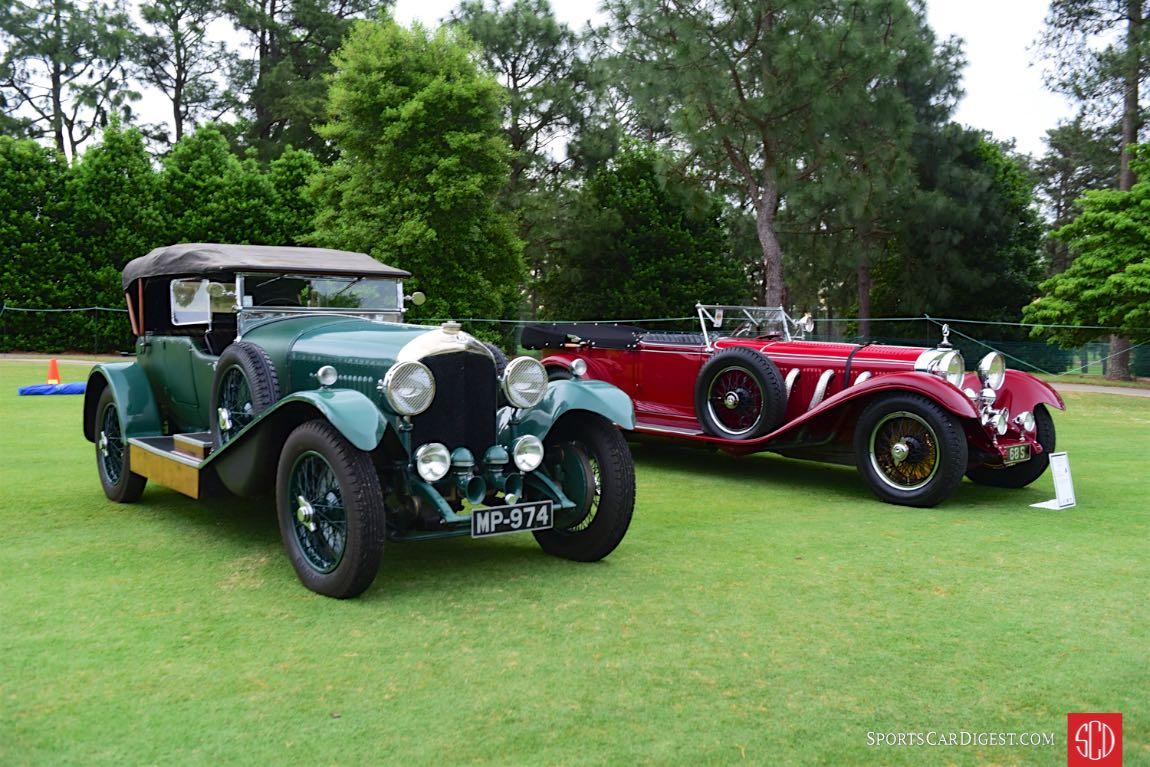 1927 Bentley 4.5 Litre and 1928 Mercedes-Benz S-Type 26