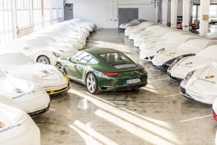 One-millionth Porsche 911 in the storage area