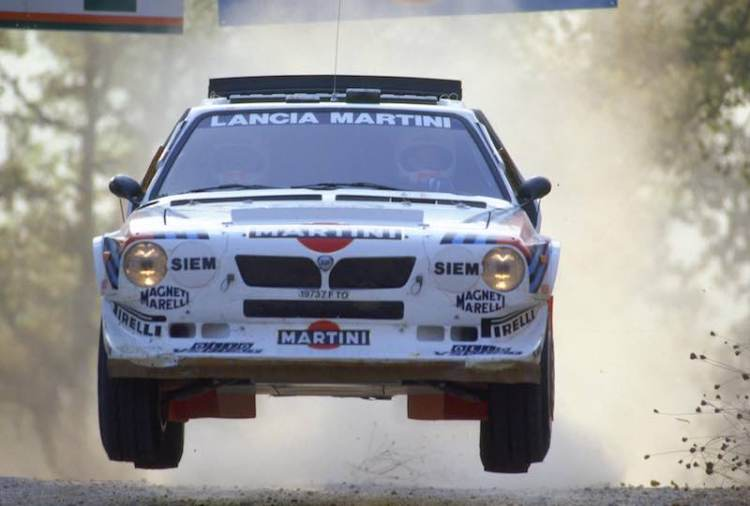 Miki Biasion in the Group B Lancia Delta S4 in 1986
