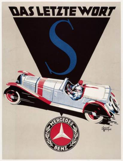 Mercedes-Benz advertisement for the Model S from 1928.
