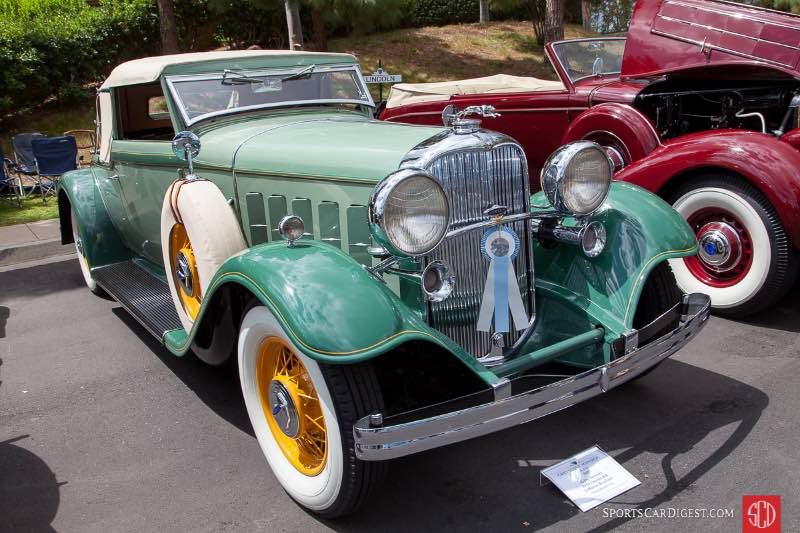 1932 Lincoln KB LeBaron Roadster, owned by Gary Severns