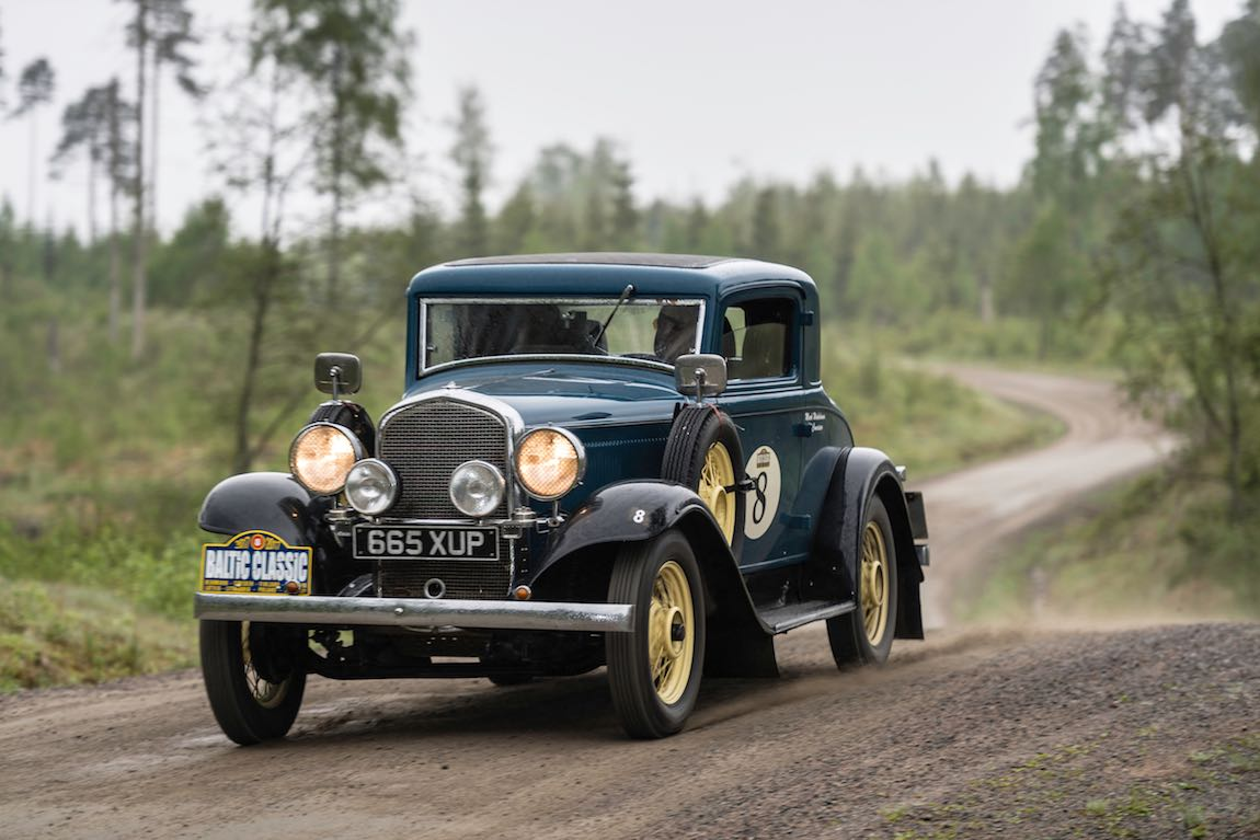 Car 08. Mark Winkelman(NL) / Victor Silveira da Conceicao (PT) 1932 Plymouth PB3 Coupe, Karlstad - Stockholm, The Baltic Classic 2017. Day 03