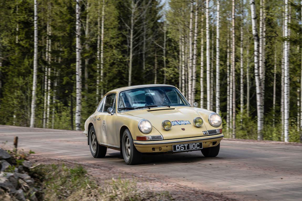 Baltic Classic 2017. Day 05. Turku - Jvaskyla., Car 61. Gavin Henderson(GB) / Diana Henderson(GB) 1965 Porsche 911