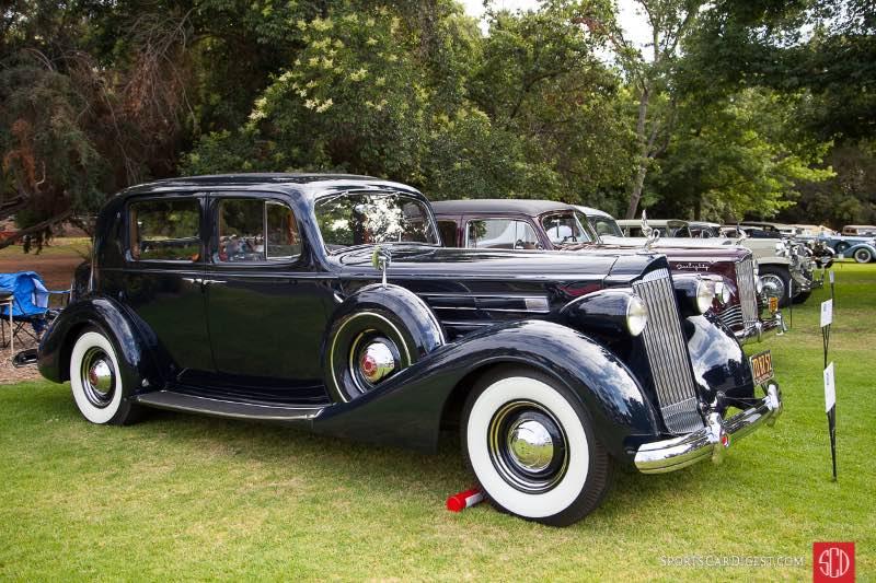 1937 Packard V12 Club Sedan, owned by Larry Symons