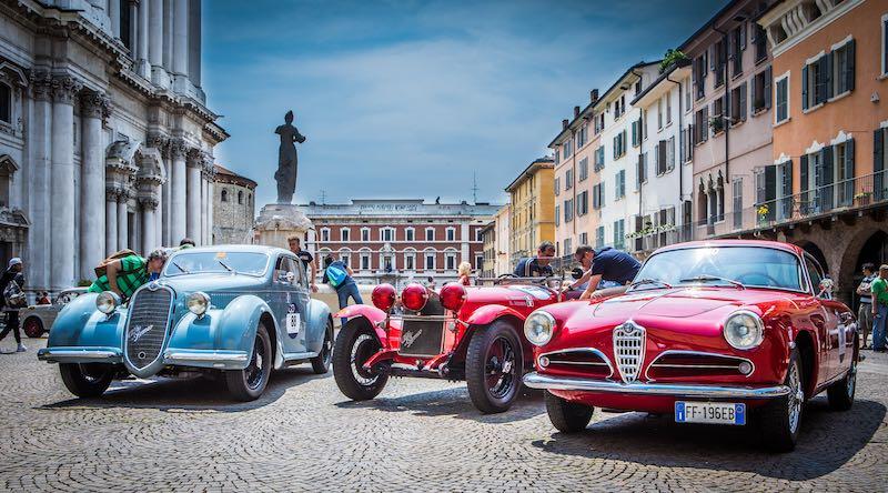 1938 Alfa Romeo 6C 2300 Coupe Mille Miglia, 1930 Alfa Romeo 6C 1750 Gran Sport and 1956 Alfa Romeo 1900 Super Sprint