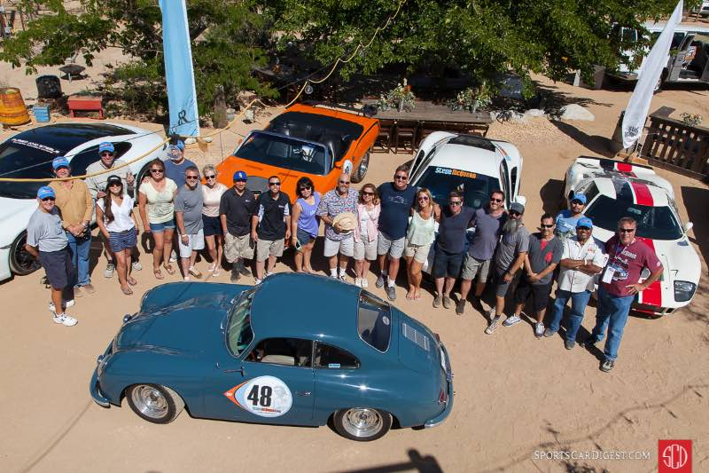 The Steve McQueen Rally group photo at the Rimrock Ranch