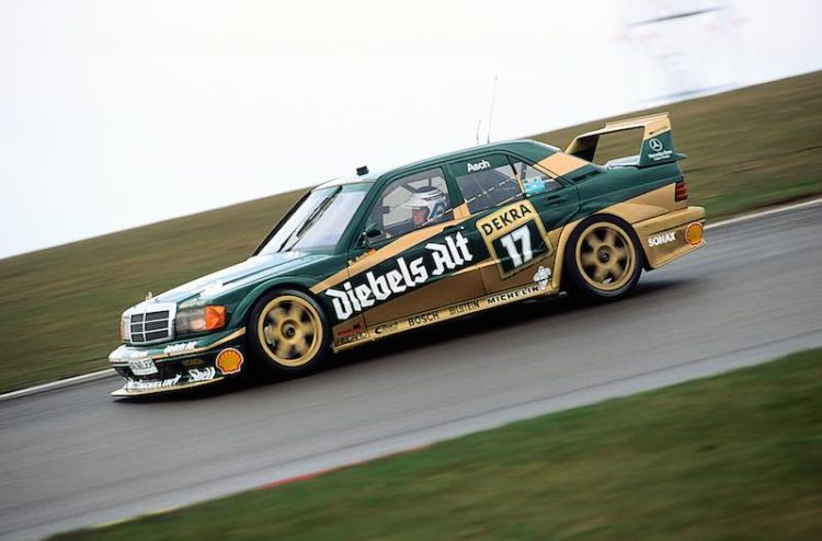 Eifel Race at the Nurburgring, 19.04.1992. Roland Asch (start number 17) won the second race in an AMG-Mercedes 190 E 2.5-16 racing tourer.