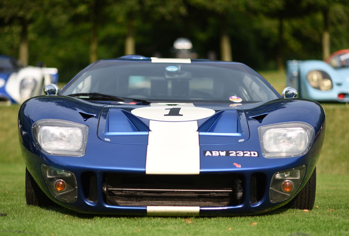 1966 Ford GT40 at Heveningham Hall Concours d'Elegence 2017. Credit Rufus Owen