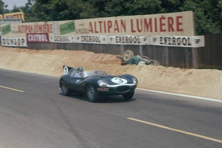 The famous Flag Metallic Blue liveried Ecurie Ecosse entered Jaguar D-types won Le Mans in 1956 and 1957