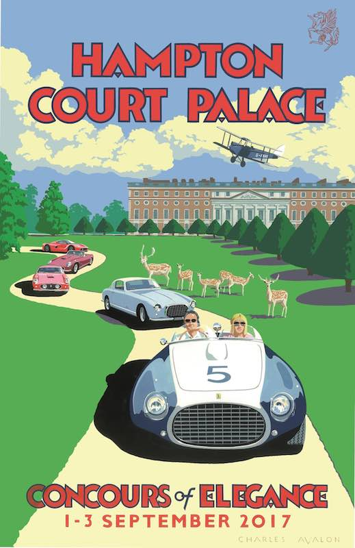 Official Poster - 2017 Hampton Court Concours of Elegance