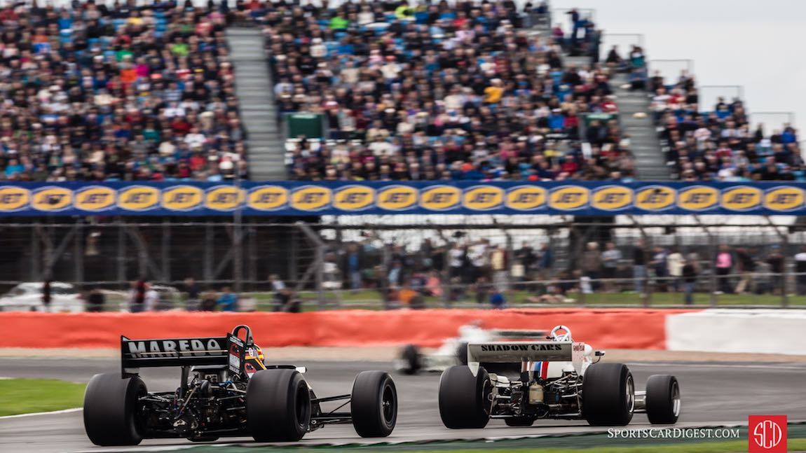 Katsuaki Kubota's Tyrrell 012 and Jason Wright's Shadow DN8