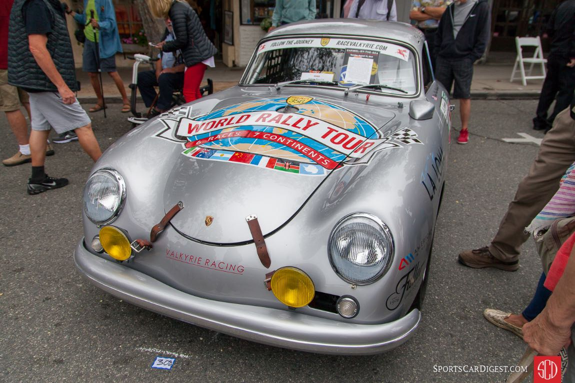 1956 Porsche356A Coupe (La Carrera Panamericana, 1st in class in debut run in 2013, 2nd iin class 2014, 2nd in class 2015, Beginning in 2017 this car will commence a 2.5 year effort to become the first car of any kind to compete on all seven continents)