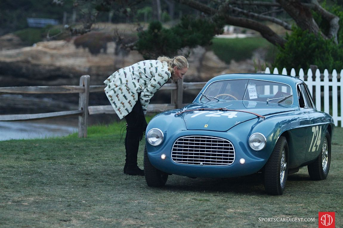 1950 Ferrari 166 MM Touring Berlinetta chassis 0026M; first shown at the Geneva Motor show in March of 1950, that April Giannino Marzotto drove it to Ferrari's second consecutive win in the Mille Miglia