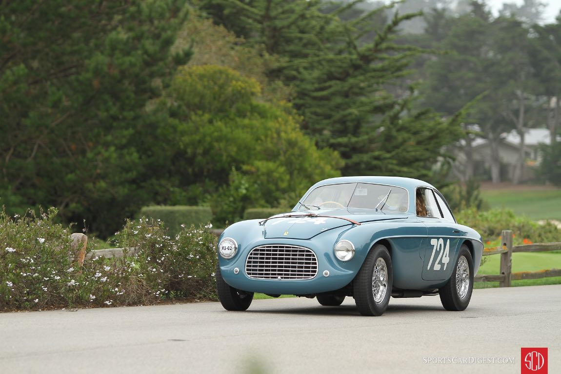 Ferrari 166 MM Berlinetta Touring 0026M finished first overall at the Mille Miglia in 1950