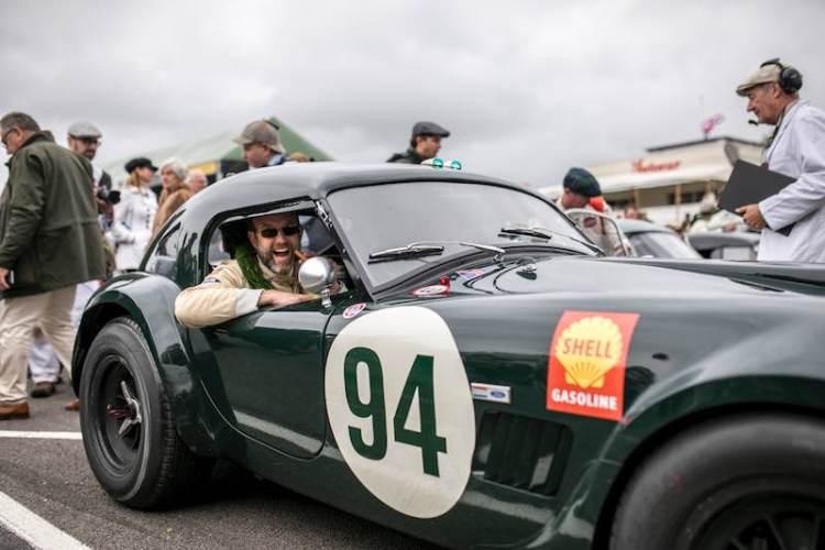 Michael Gans in the RAC Tourist Trophy race winning AC Cobra (photo: Nicole Hains)