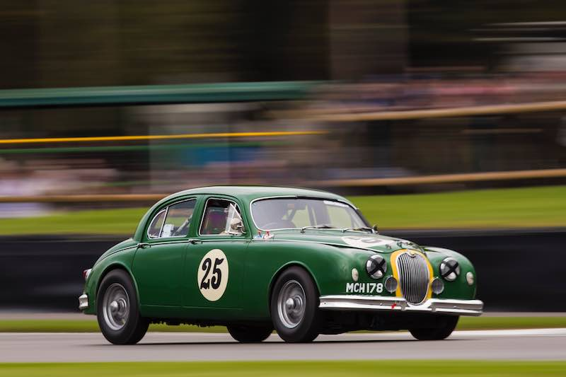 Frank Stippler, 1958 Jaguar Mk I at the Goodwood Revival - Photo: Drew Gibson