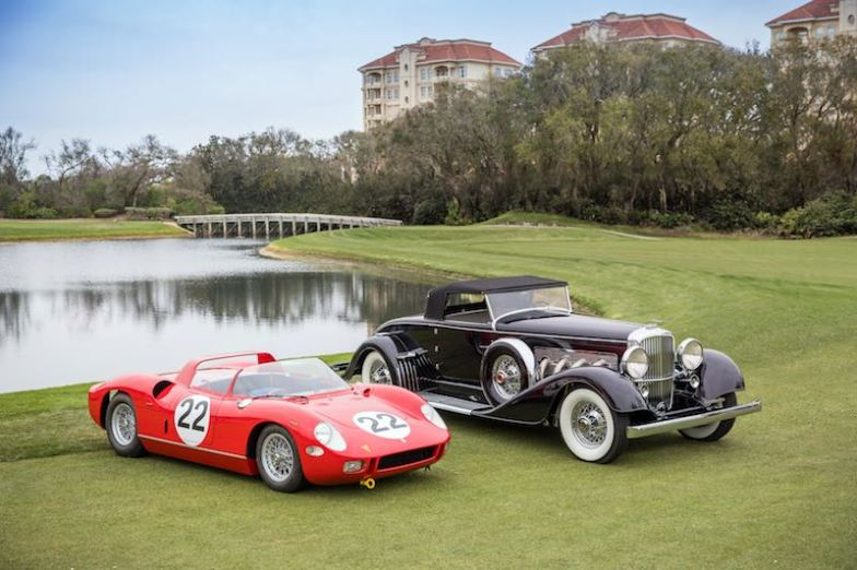 1929 Duesenberg J/SJ Convertible and 1963 Ferrari 250/275P