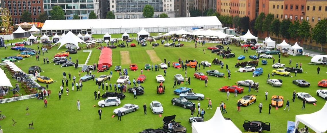 Aerial view of the London City Concours 2018