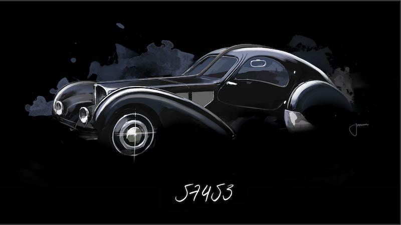 """""""La Voiture Noire"""", Chassis number 57453"""