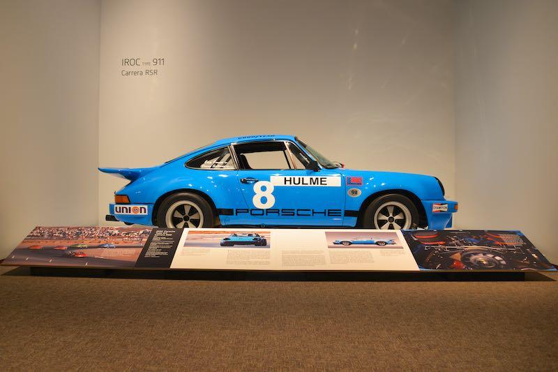 1974 Porsche 911 Carrera RSR IROC at the Porsche by Design: Seducing Speed exhibit