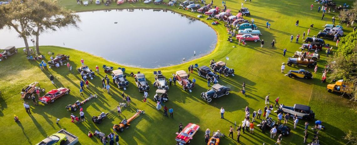 Bird's eye view of the Amelia Island Concours 2019