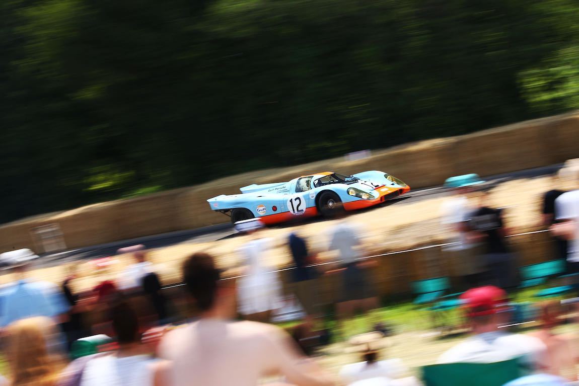 Gulf Porsche 917 as part of the 50th anniversary of the legendary endurance racer