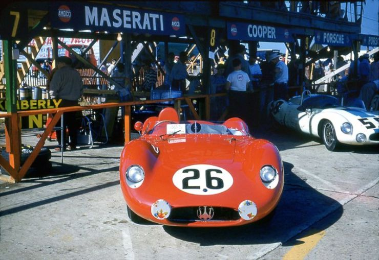 Maserati at the 1957 Sebring 12 Hours
