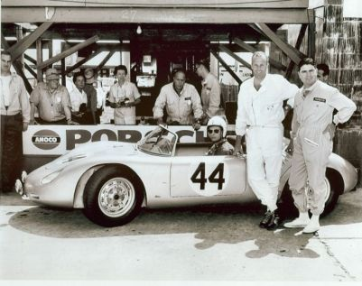 Bob Holbert, Roy Schechter and Howard Fowler finished second in this Brumos Porsche 718 RS 60. Roy Schechter archives photo.