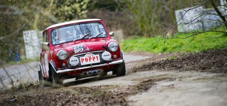 Austin Mini Cooper S on Poppy Rally 2015