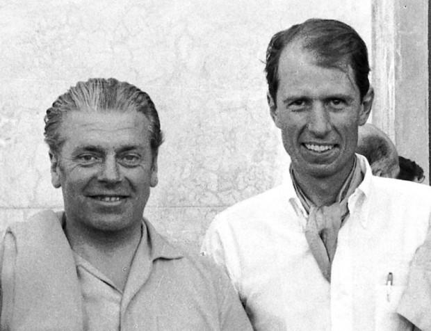 Rudi Uhlenhaut and John Fitch. (photo credit: Daimler-Benz archive)