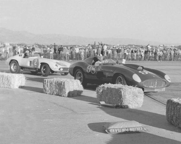 Phil Hill, Ferrari 857S, Carroll Shelby, Ferrari 410S, Palm Springs