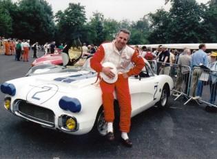 Bruce Meyer with his Le Mans 1960 Chevrolet Corvette