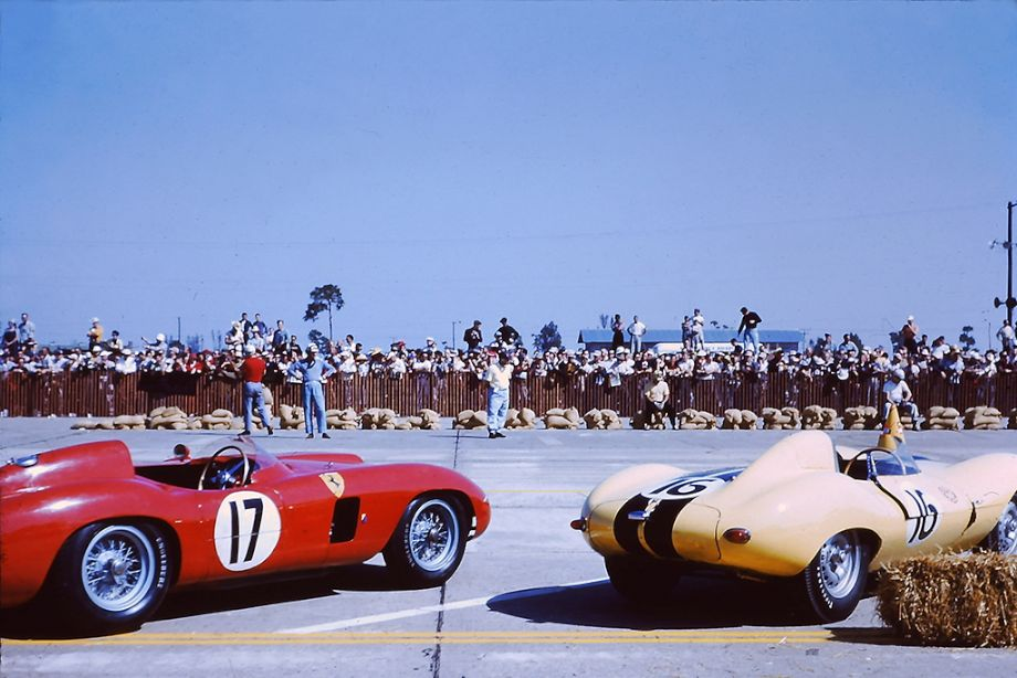 Drivers waiting for the Le Mans-style start at Sebring 12 Hours 1956