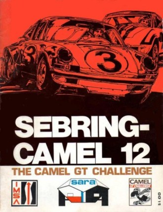 Souvenir race program for the 1973 Sebring Camel 12 Hours