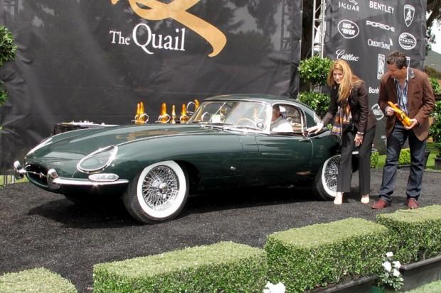 1961 Jaguar E-Type OTC Roadster - Ron Laurie.  Photo William Edgar