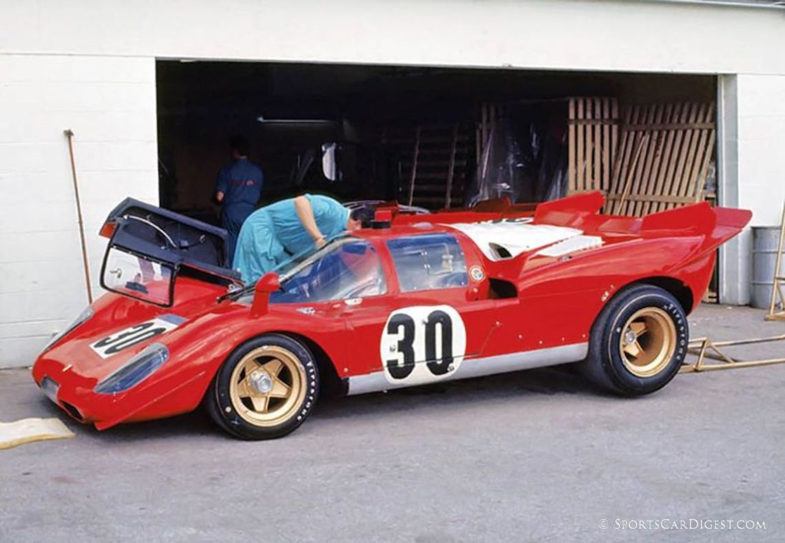 The private entry Ferrari 512S of Corrado Manfredini and Gianpiero Moretti at Daytona in 1970. Fred Lewis photo.