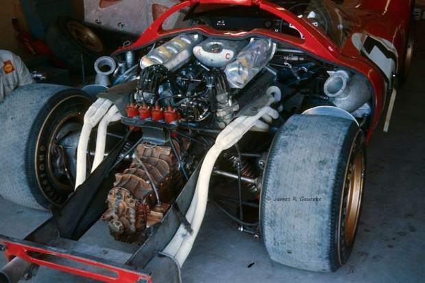 4-liter V12 engine of the winning Ferrari 330 P3/4 Daytona