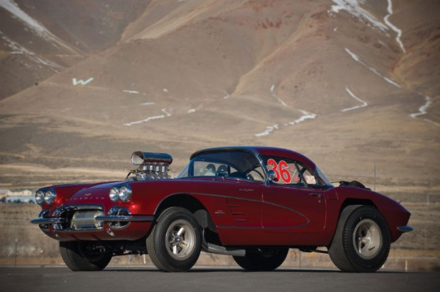<strong>1961 Chevrolet Corvette Drag Racing Car - Estimate $350,000 - $450,000.</strong> Ex-'Big John' Mazmanian; only 15,300 original miles; restored to racing condition.