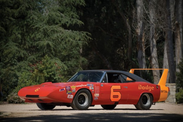 <strong>1969 Dodge Charger Daytona - Estimate $400,000 - $600,000.</strong> Ex-Cotton Owens and Buddy Baker; first NASCAR Grand National to post lap over 200 mph; won 1970 Southern 500.