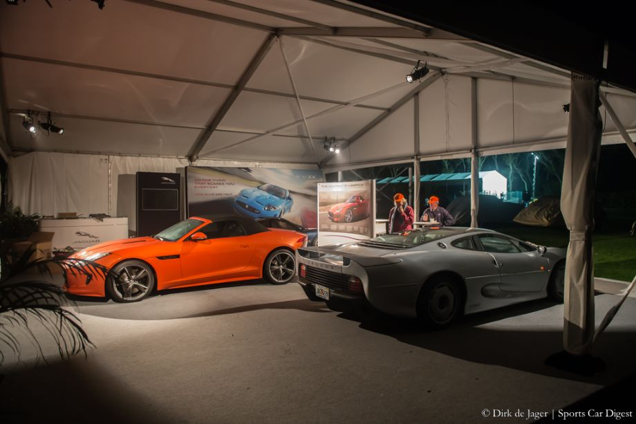 Jaguar display with XJ220 and F-Type