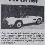 BMW 507 – Classic Cars for Sale