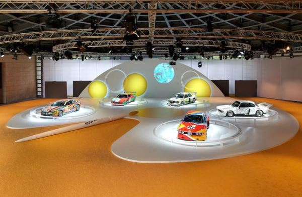 The BMW Art Cars by Jeff Koons, Andy Warhol, Roy Lichtenstein, Frank Stella and Alexander Calder in the special BMW Art Car exhibition during the Concorso d'Eleganza weekend