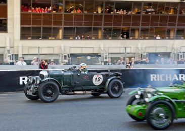 Blower Bentley at start of Le Mans Classic