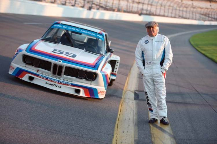 Brian Redman with BMW CSL