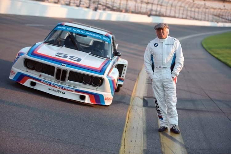 Brian Redman with BMW CSL