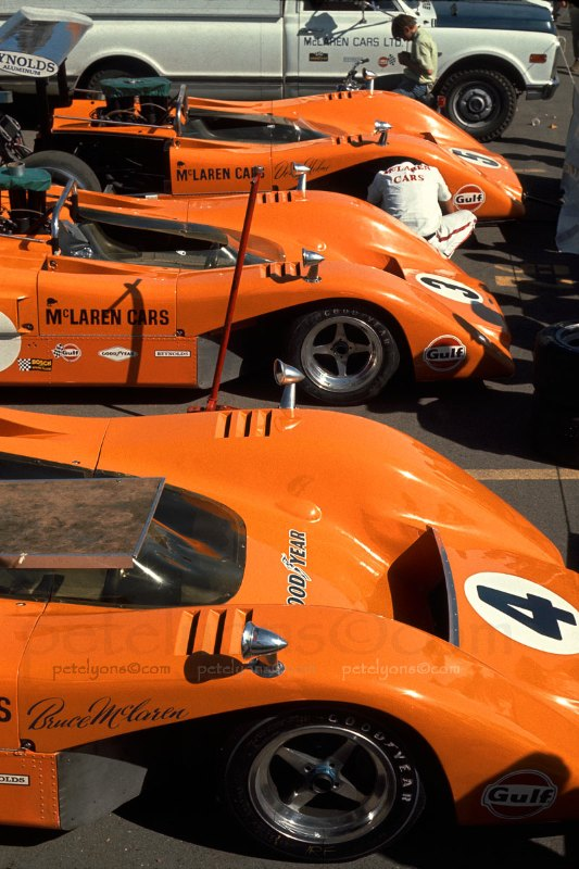 can-am mclaren m8b - profile and photospete lyons