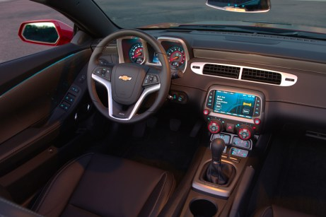 Interior of the Camaro SS